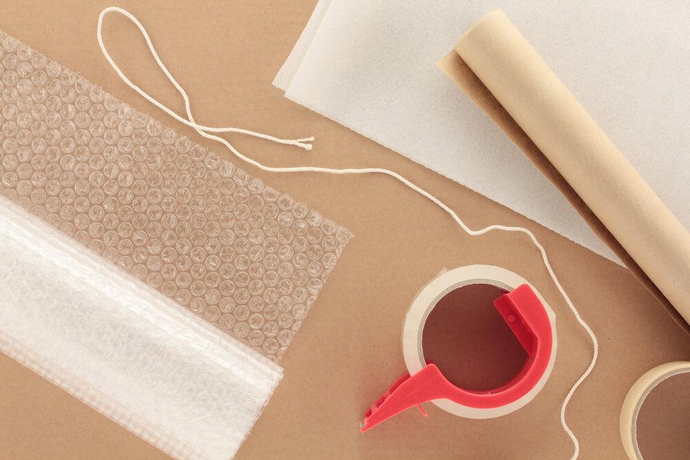 Verpackungsmaterial für einen Umzug